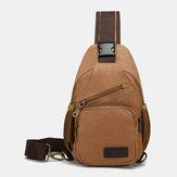 Hommes Casual Vintage Chest Bag Sac à bandoulière pour les voyages en plein air