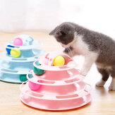 Kattensporen Kattenspeelgoed Vier niveaus van interactief spelen Cirkelspoor met bewegende ballen Fun Mentale lichamelijke oefening Puzzelspeelgoed