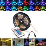0.5 / 1/2/3/4 / 5M RGB SMD5050 Impermeabile LED Kit di illuminazione a striscia TV Backlilghting Kit + USB remoto Controllo DC5V