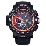 SBAO S8006-2 Stopwatch Back Light Dual Display Digital Watch
