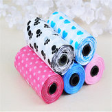 15pcs 1 Rolls Black Pet Dog Waste Pick Up Poop Bags Biodegradable Clean Up Bags Pet Products