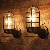 Parete industriale unica del ferro del negozio del caffè del negozio del ferro della parete leggera d'annata lampada