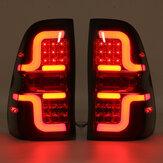Par traseiro preto LED cauda luz de freio lâmpada para toyota hilux revo sr5 m70 2015-up