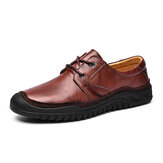 Men Genuine Leather Soft Soles Business Casual Oxfords