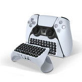 JYS Wireless Bluetooth 3.0 Keyboard Chat Pad for Playstation 5 PS5 Game Controller Gamepad Built in Speaker