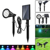 Solar 7 LED Zmiana koloru Spot Light Wall Garden Outdoor Yard Landscape Lamp