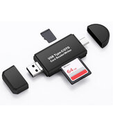 Bakeey 3 in 1 multifunctionele kaartlezer 480 Mbps High Speed Type-c USB 2.0 Micro USB Tf-geheugenkaart OTG-kaartlezer