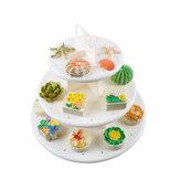 3段ウェディング誕生日パーティケーキカップケーキスタンドデザートディスプレイロリポップホルダーケーキデコレーション