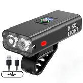 XANES® Z-02A 2xT6 1200LM Luce per bici USB Alimentazione ricaricabile Display Ultralight 6 modalità MTB impermeabile anteriore lampada Faro per bicicletta