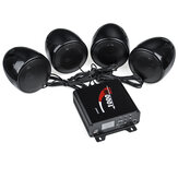 1000W Motorcycle bluetooth 4 Speakers Audio Stereo System MP3 ATV UTV Waterproof