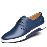 Mænd Leather Round Toe Oxfords Sneaker