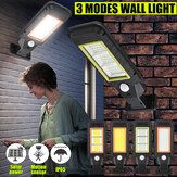 LED Solar Lights Power PIR Motion Sensor Wall Light Waterproof Outdoor Garden Lamps