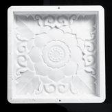 40x40 cm home diy garden path maker estrada de pavimentação de cimento molde de pedra molde tijolo decorações