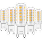 KingSo 6Pcs G9 AC 230V 5W 3000K Dimmable LED Lights with 33PCS 2835 Lamp Beads PC Lampshade Ceramic Base