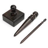 Cuoio fai da te strumento mano mestiere taglio impermeabile bastone di legno a 3 dimensioni