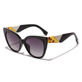 Women Vogue Vintage Print Anti-UV Cat Eye Sunglasses