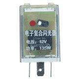 12V 3 pinos LED Unidade de relançamento do flasher para indicador de sinal de giro Flash intermitente
