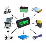 12V 8-70V LCD Acid Lead Lithium Battery Capacity Indicator Multipurpose Digital Voltmeter Calculator