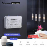 SONOFF® 4CH Pro R2 10A 2200W 2.4Ghz 433MHz RF Inching / Self-Lock / Interlock ذكي Home Module WIFI Wireless Switch التطبيق التحكم عن بعد مراقبة AC 90V-250V / 5-24V تيار منتظم Din Rail Mounting Home Automation Module