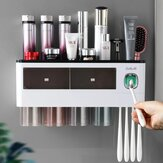 Wall-Mounted Toothbrush Holder Automatic Toothpaste Squeezer Toothbrush Holder Inverted Cup Storage Rack Bathroom Accessorie