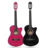 38 inch 6 snaren 18 fret roze zwarte kleur Basswood Body klassieke gitaar muziekinstrument voor beginners