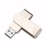 U&H JSXZ2.0 Mini USB 2.0 32GB 64GB USB Flash قرص ذاكرة محرك دوران 360 درجة قرص معدني محمول على شكل حرف U مخصص للهدايا
