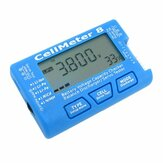 AOK CellMeter 8 Multifunktionel Digital batterikapacitet Servo Checker Tester 2S-8S