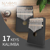 NAOMI Kalimba 17 kláves Kalimba C Tone Single Board Mini Keyboard Instrument African Solid Wood Thumb Finger Piano