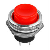 2Pcs 3A 125V Momentary Push Button Switch OFF-ON Horn Red Plastic