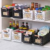 Cozinha de plástico Cesta de Geladeira de Plástico Suporte de Prateleira de Freezer Rack de Armazenamento Banheiro Desktop Storag Storage Caso Organizer