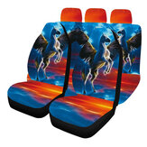 Universal Car Seat Covers Horse Design Front & Rear Full Set Seat Protector
