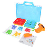 Children Fun Electric Drill Puzzle Toys Disassemble Screw Nut Assembly Comb