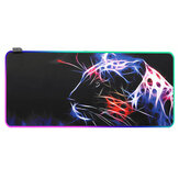 Rubber Lion Theme RGB Mouse Pad Wired Large Mouse Pad Desktop Mat for Home Office