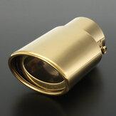 63mm Universal Gold Edelstahl Auto Hinten Einlass Auspuff Schalldämpfer