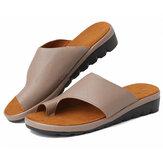 Kadın Ortopedik Sandaletler Yaz Bayanlar Flip Flop Konfor Kama Platformu Kaymaz Rahat Yürüyüş Rahat Klip Ayak Düz Plaj Ayakkabı