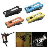 SUNREX Fun 40LM 6Modes USB Rechargeable Keychain Lumière EDC LED lampe de poche Noir / Jaune / Orange / Bleu