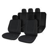 Uniwersalny komplet pokrowców na siedzenia samochodowe z przodu z tyłu z poliestru 5 głowic Auto czarny