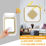 Wireless Doorbell Waterproof Transmitter + Receiver Home Wall Doorbell 60 Chimes