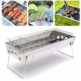 Stainless Steel Portable Outdooors Camping Table Top Barbecue Grill BBQ Cooking