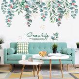 Adesivos de parede removíveis estilo nórdico verdes Folha para sala de estar quarto sala de jantar cozinha adesivos de parede murais de sofá