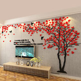 Big Tree Wall Sticker 3D Acrylic Removable Wall Background Decorative Paper for Home Office DIY Wall Decoration