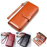 Flovemeファッション女性PUジッパーの財布バッグSamsung Xiaomi携帯電話用多機能財布