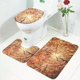 HonanaBX3PzCreativoLegno Modello Antiscivolo Tappeto Bagno Tappetino Da Bagno Coperchio Wc Coperchio Toilette