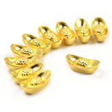 Lucky Money Golden Tone Ingots Feng Shui Gunstige Mini Home Office Decoraties