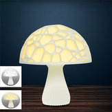 24cm 3D Mushroom Night Light Touch Control 2 Colors USB Rechargeable Table Lamp for Home Decoration