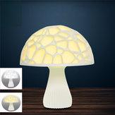 24cm 3D paddestoel nachtlampje Touch Control 2 kleuren USB oplaadbare tafellamp voor huisdecoratie
