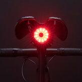 ROCKBROS 100LM kerékpár hátsó lámpa fékérzékelő hátsó lámpák 7 mód USB újratölthető biztonsági figyelmeztető lámpa