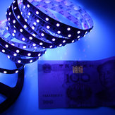 5M SMD 3528 UV Ultraviolet Impermeable Purple 300 LED Tira de cinta flexible Detección de dinero DC12V