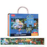 48/140 шт. Бумага тропический лес научная лаборатория головоломка родитель-ребенок обучающий набор игрушек для детей подарок