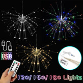 USB 120/150/180 LED Hangend Vuurwerk Fairy String Light Party Home Bruiloft Decor